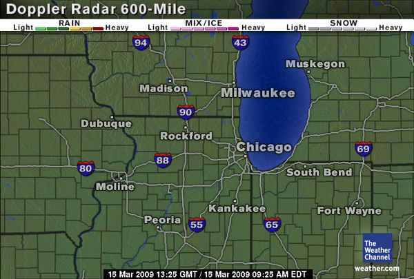 Click here for Doppler Radar 600-Mile